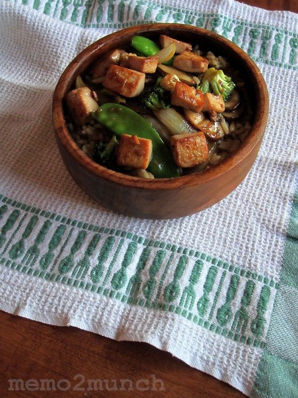 Teriyaki Tofu with Vegetable Stir-Fri | memo2munch