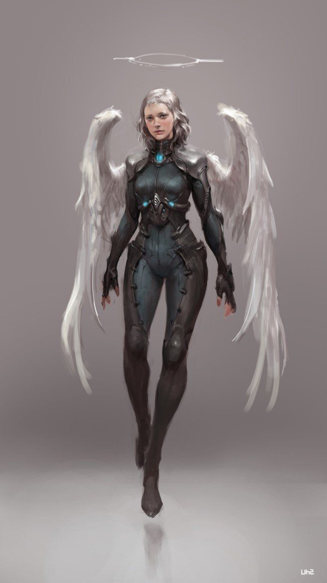 Sci-Fi Angel _ study, Sungryun Park on ArtStation at http://www.artstation.com/artwork/sci-fi-angel-_-study