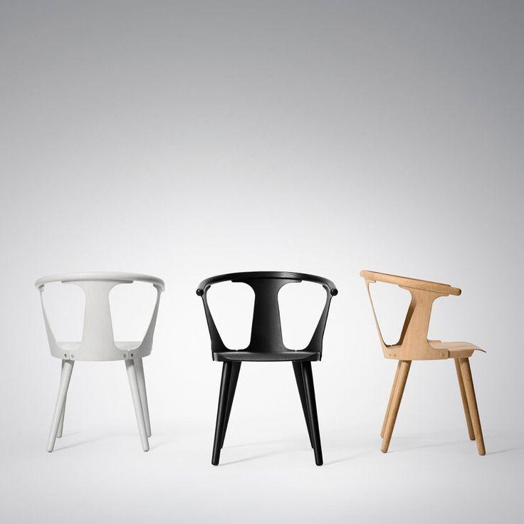 In Between karmstol tillverkad i svartbetsad ask. In Between stol är en kombination av modern industriell tillverkning och traditionellt hantverk. Formgivaren Sami Kallio fascineras av produkters form och närvaro och av balansen mellan olika materialval och delar i en möbel. Namnet In Between kommer från hur stolen tillverkas, de tre delarna av lätt böjd träfanér som utgör en sammanlänkning mellan den massiva sitsen och stolskarmen, vilket ger stolen ett eget uttryck.
