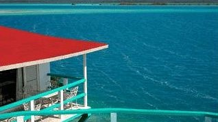 Hotel Laguna near Chetumal in Mexico.  Awesome and funky little hotel on Laguna Bacalar.