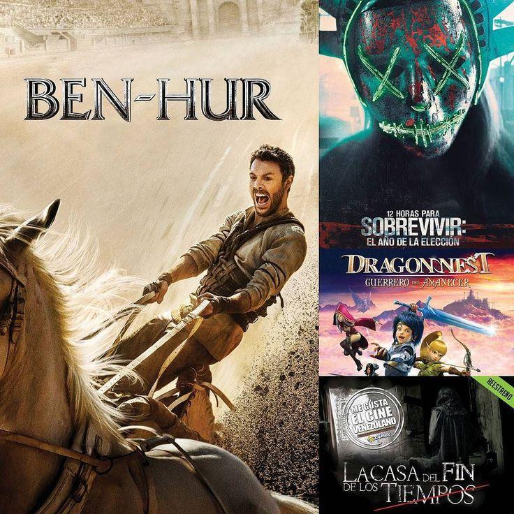 Viste lo que nos trae @CinexVe para este fin de semana? Los #EstrenosCinex empiezan con el remake de la multipremiada #BenHur la tercera peli de la saga ''La Purga'' bajo el nombre de #12HorasParaSobrevivir. Por último para los fanáticos de los videojuegos llega #DragónNestGuerreroDelAmanecer Lee más al respecto en http://ift.tt/1hWgTZH Lo mejor del Cine lo disfrutas #DesdeLaButaca Siguenos en redes sociales como @DesdeLaButacaVe #movie #cine #pelicula #cinema #news #trailer #video…