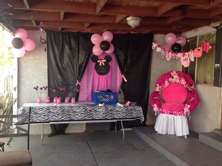 9 best minnie mouse baby shower images on pinterest mice for Baby minnie mouse decoration ideas