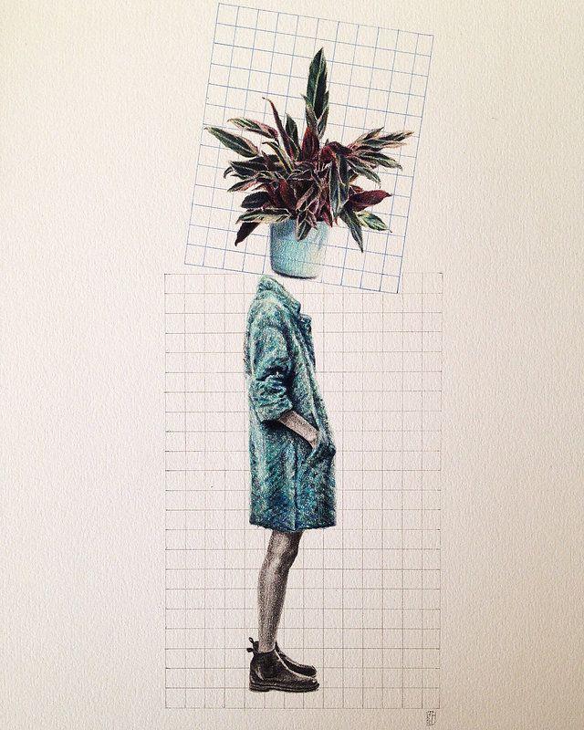 Dominique Schwarzhaupt | Colored pencil on paper. Dibujo sobre papel. Streetstyle