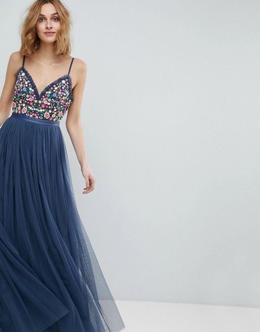 3703108bda1 Needle   Thread Cami Strap Maxi Dress with Open Back