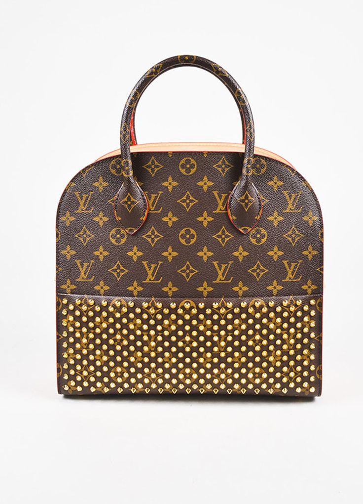 Louis Vuitton x Christian Louboutin Brown and Red Celebrating Monogram Shopping Bag