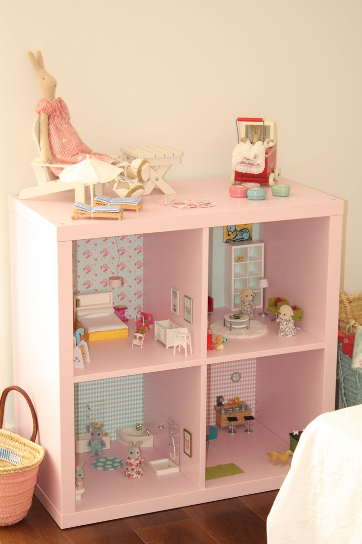 sylvanian families dollhouse ikea cube turning into a doll house day doll house