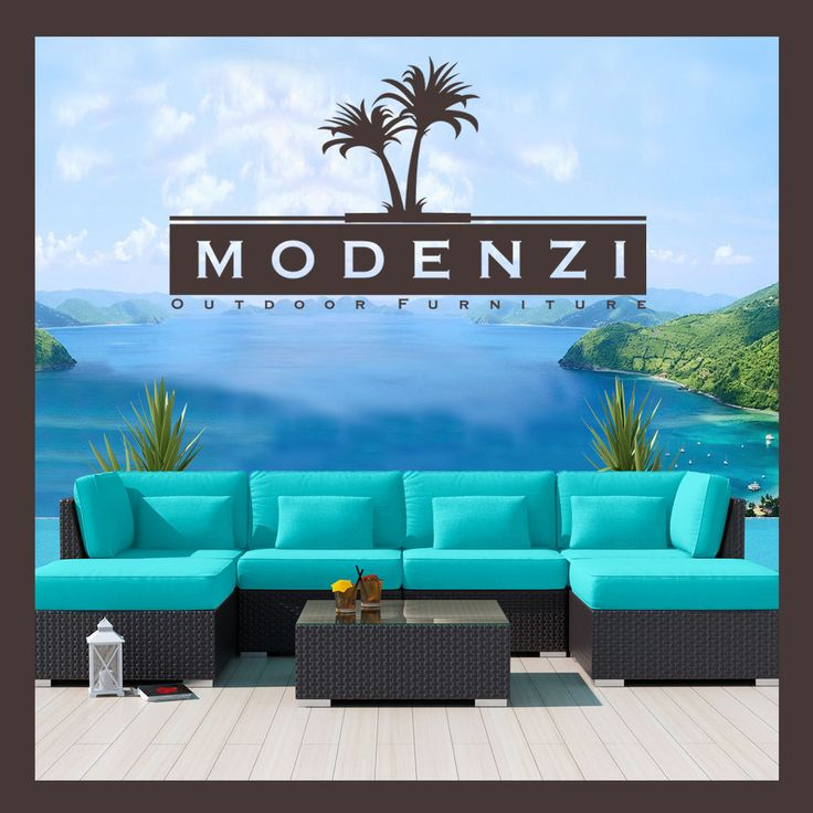 MODENZI DELUXE 7C ALL Weather Modern Outdoor PE Wicker Sofa Patio Furniture Set in Home & Garden, Yard, Garden & Outdoor Living, Patio & Garden Furniture | eBay
