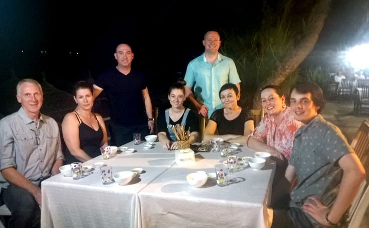 About to enjoy dinner on An Bang beach.  #HoiAn #VietnamSchoolTours