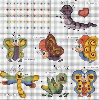 Angela Embroidery: cross stitch butterflies