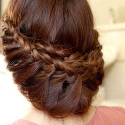 This princess braided updo is much easier to achieve than it may seem at first sight. Simply follow the full step by step video tutorial!: Braids Hairstyles, French Braids, Hair Tutorials, Braids Updo, Long Hair, Prom Hair, Beautiful, Hair Style, Princesses