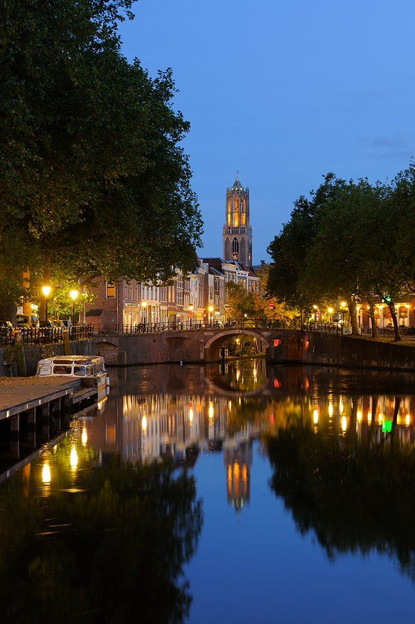 Zandbrug by donker Utrecht