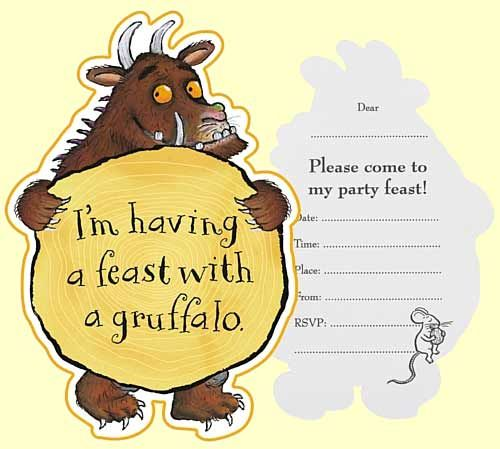 Gruffalo birthday party invitations.jpg 500×449 pixels