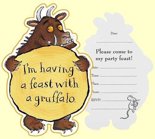 Gruffalo birthday party invitations.jpg 500×449 pixels