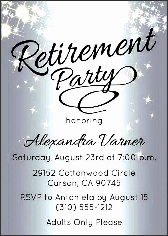 Best Of Retirement Party Invitations Template In 2020 With Images