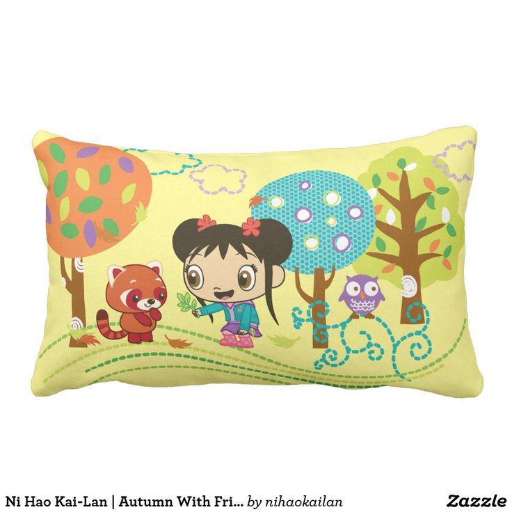Ni Hao Kai-Lan | Autumn With Friends. Producto disponible en tienda Zazzle. Decoración para el hogar. Product available in Zazzle store. Home decoration. Regalos, Gifts. #cojín #pillows