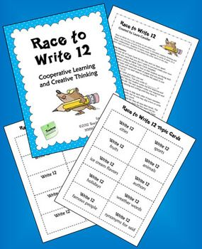 FREE Race to Write 12 from Laura Candler's Teaching Resources - terrific game for team building and class building!
