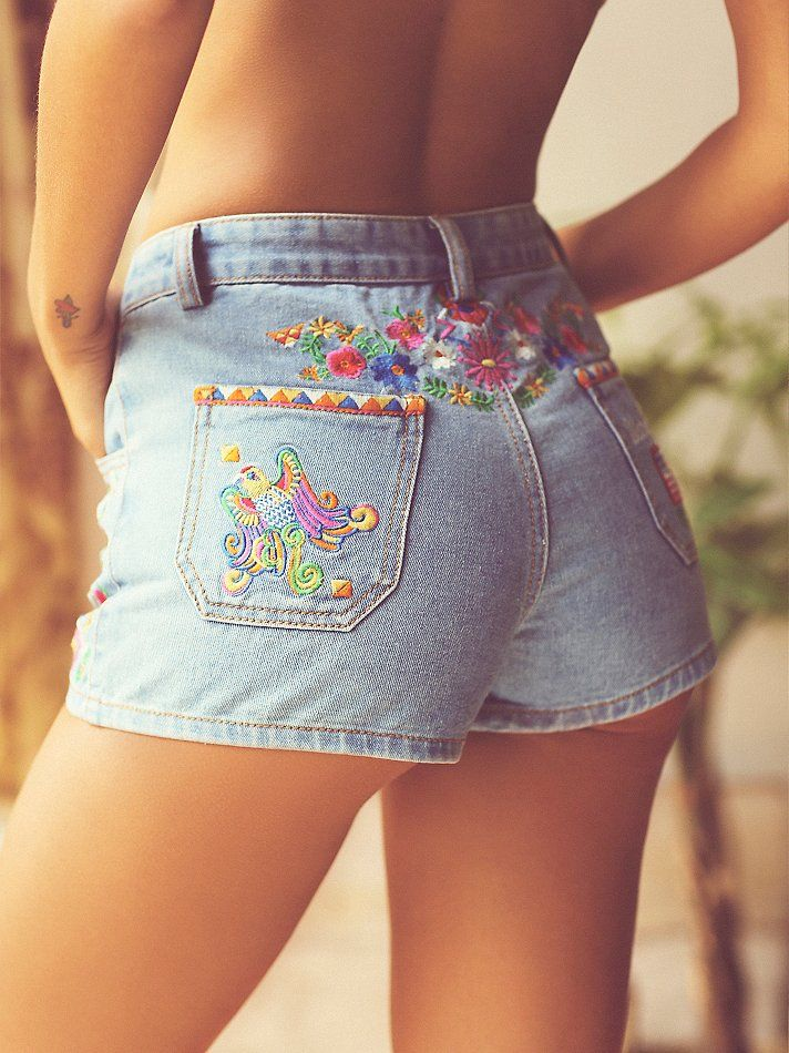 Spell & the Gypsy Collective Love Child Embroidered Shorts at Free People Clothing Boutique