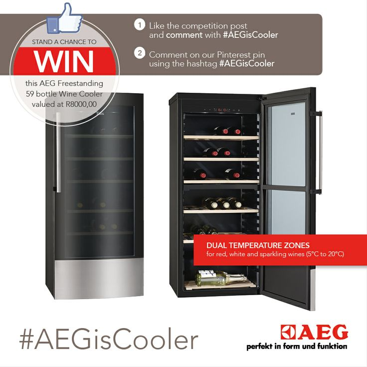 Simply like the AEG South Africa's Facebook page (http://on.fb.me/192vOGu), like our competition post, comment on our competition post with #AEGisCooler or comment on AEG South Africa's Pinterest pins with the hashtag #AEGisCooler. Entries are open from 25 November 2013 until 30 December 2013.   Terms & Conditions apply.