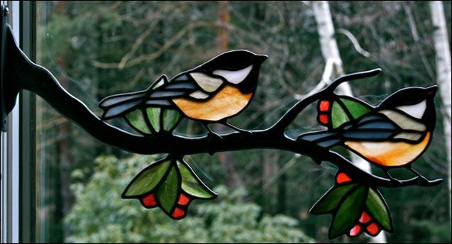Stained Glass Birds by Chippaway Art Glass                                                                                                                                                                                 More