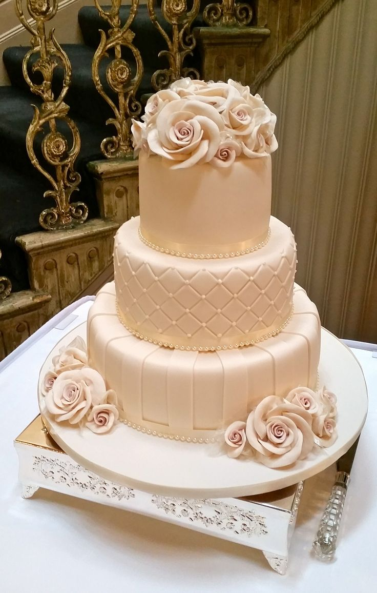 Homemade Wedding Cake Ideas : Tier stripes piping at butleigh wootton layers of