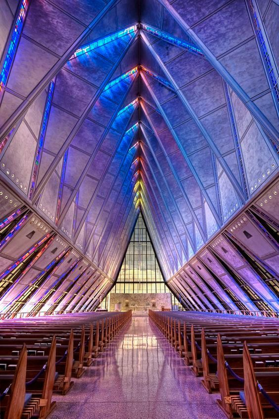Glass Chapel at the Air Force Academy in Colorado Springs, Colorado by Carl Schultz
