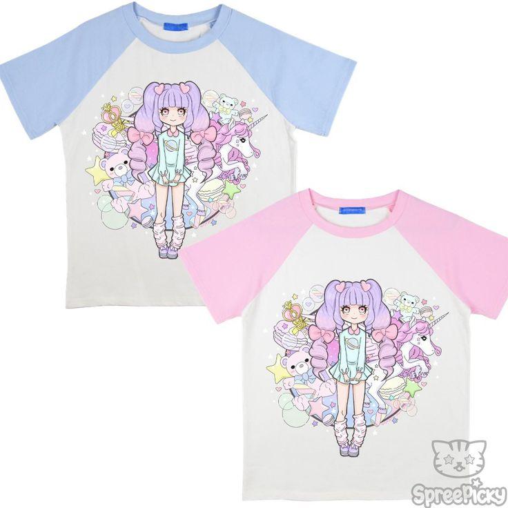 Pastel Rainbow Dreamland Raglan Tee Shirt SP1710775