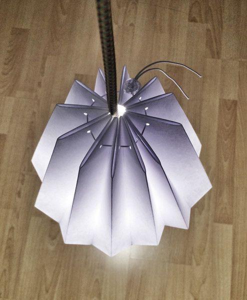 Klosz do lampy papierowy origami rękodzieło lampa  - Paper_Sign - Abażury