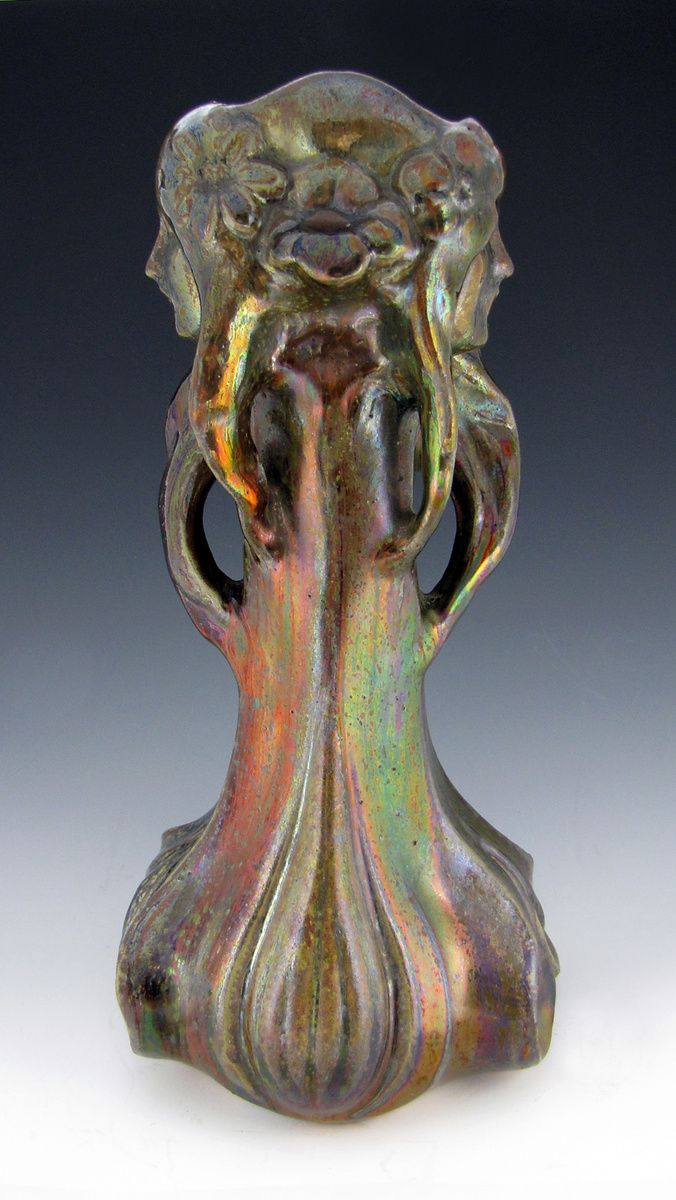 17 best images about art nouveau pottery ceramic jean baptiste gaziello iridescent symbolist art nouveau ceramic vase