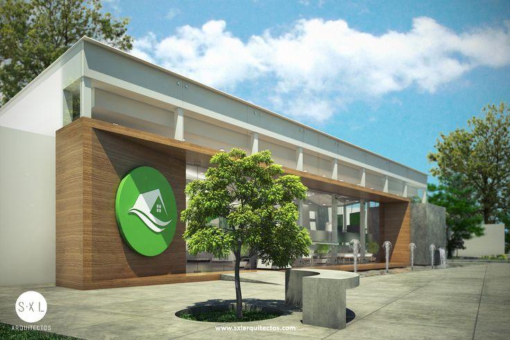 Sala de ventas para promoción inmobiliaria, diseño realizado por SXL Arquitectos en Lima - Perú.
