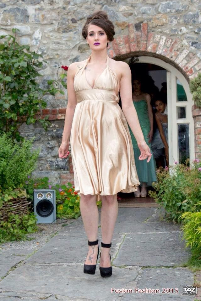 Stunning Champagne Silk Dress On Sale from €300 to €250 for a limited time , buy it online on www.facebook.com/katleenamazonasfashion  *one off piece size 8-10