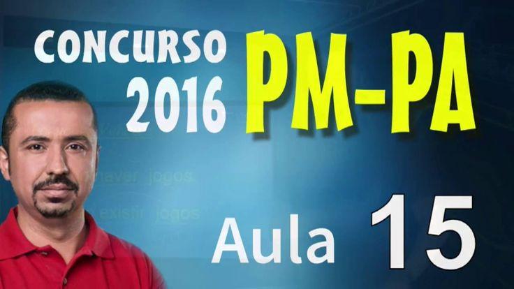 Concurso PM PA 2016 - Português PMPA - Aula 15