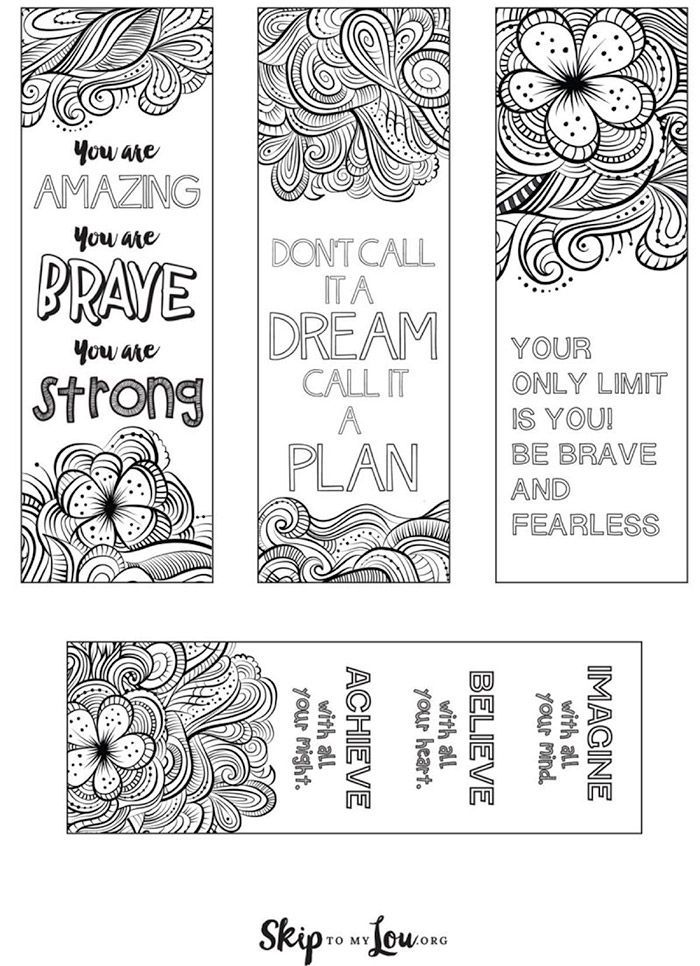Free Printable Coloring Bookmarks for Back to School   Bookmarks for ...