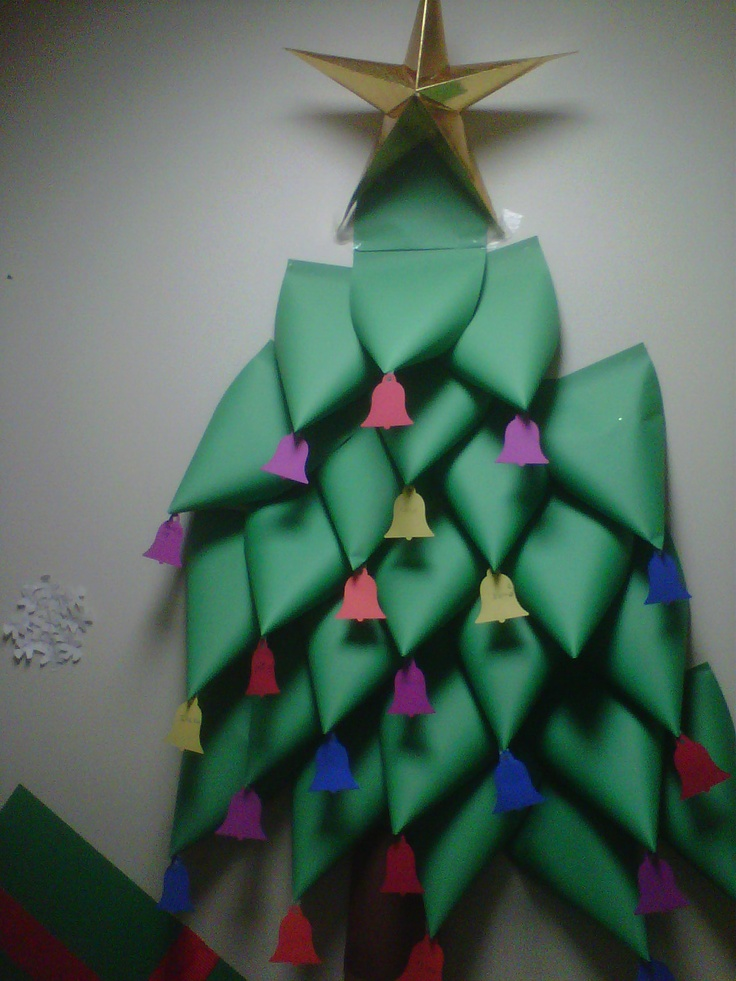 how to make a christmas tree with construction paper