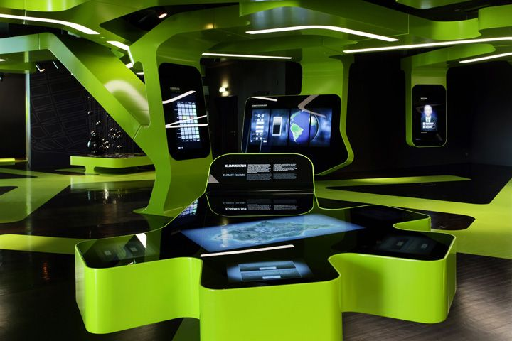 LEVEL GREEN   The Concept Of Sustainability by J. MAYER H., Wolfsburg exhibit design