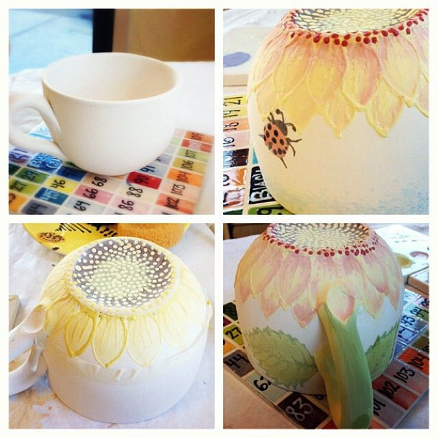 09.29.2013 my diy sunflower mug at color me mine!