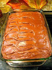 Hershey's Perfectly Chocolate cake made in 9x13 pan. Love!
