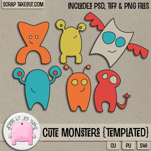 Cute Monsters {Templated} #jenyurko
