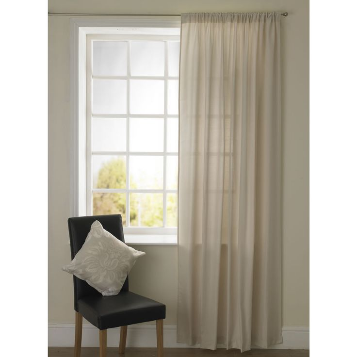 Large image of Wilko Everyday Value Pencil Pleat Curtain Panel Natural 145cm x 228cm - opens in a new window