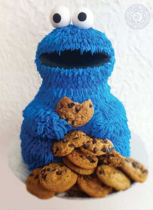 36 Best Images About Cookie Monster Cakes On Pinterest