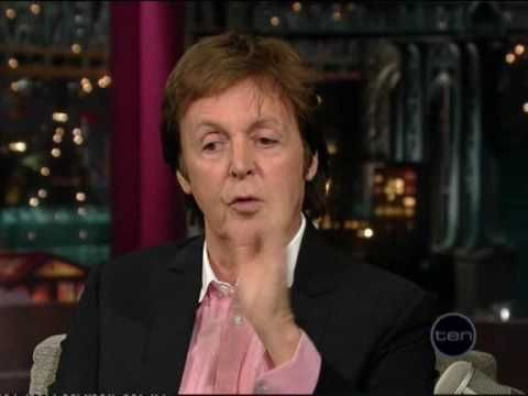 Paul Mcartney on David Letterman show chatting about the paul is dead rumour and his relationship with Michael Jackson.