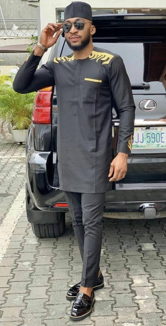 African mens wear,African mens clothing, African men's attire,black suit