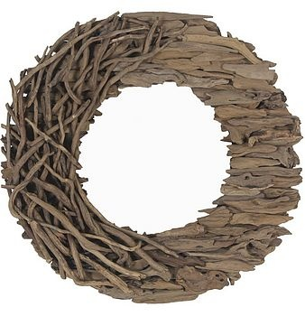 driftwood wreath that was very neatly done..notice the visible change in texture!