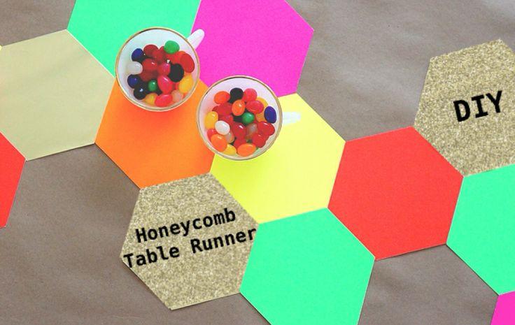ハニーコムのペーパーテーブルランナーの作り方
