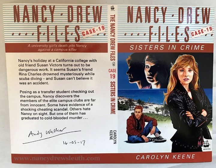Jenn Fisher Nancy Drew Collection - Nancy Drew Files Artist Andy Walker Signed Printer's Proof