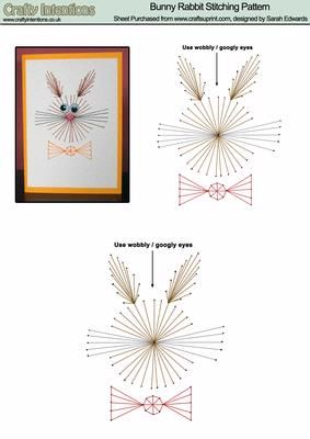 Bunny Rabbit Stitching Pattern on Craftsuprint designed by Sarah Edwards - Bunny Rabbit Stitching Pattern - perfect for Easter. - Now available for download!