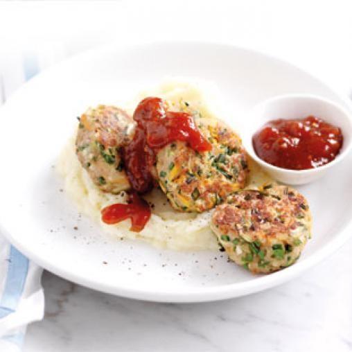 Herby chicken rissoles | Australian Healthy Food Guide