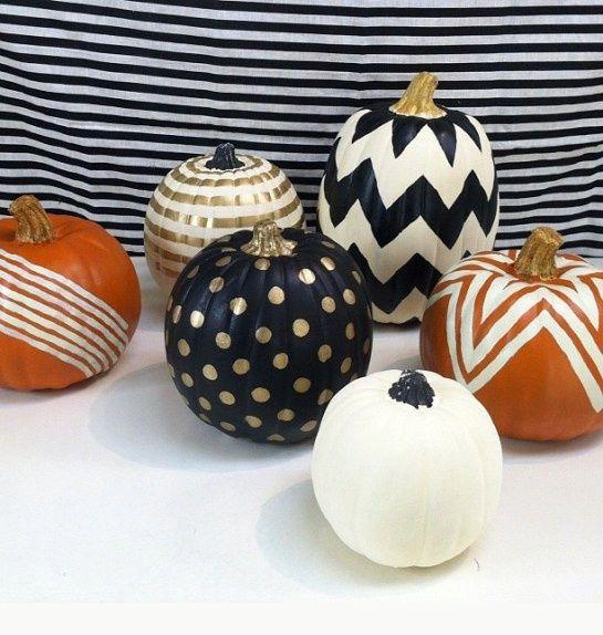 Painted Pumpkins via Urbanic Paper