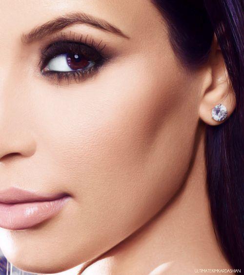 kim k eyebrow shape & make up just beautiful...x