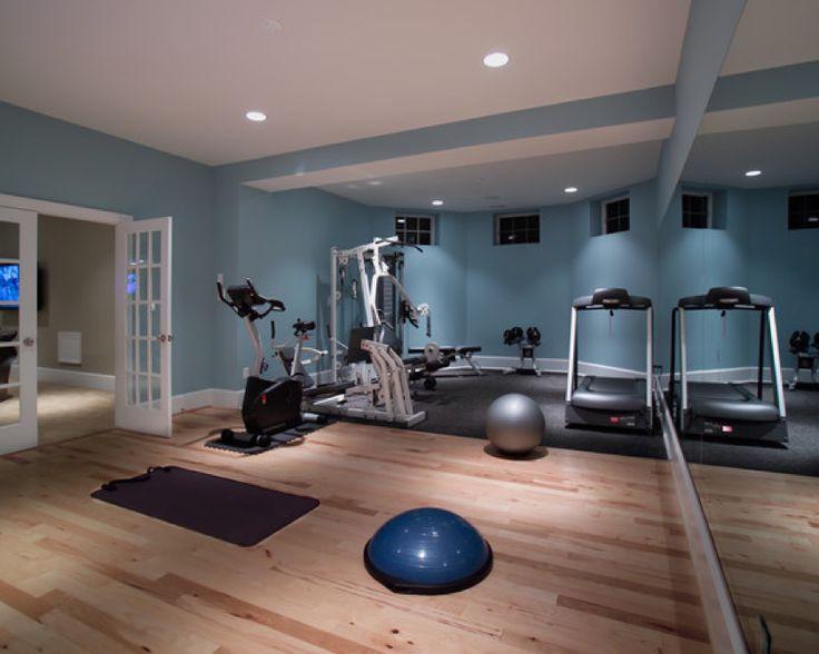 Lovely Home Gym Wood Flooring