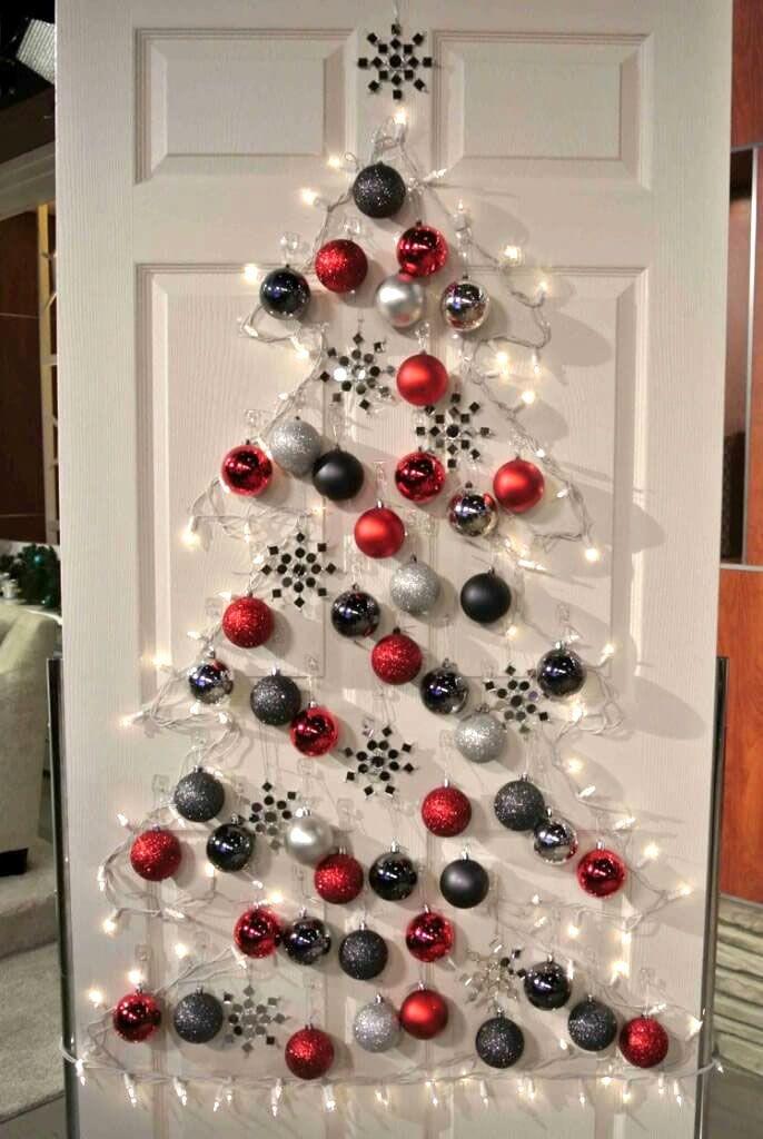 40 Unique Christmas Tree Alternatives Art Home Wall Christmas Tree Alternative Christmas Tree Christmas Door Decorations